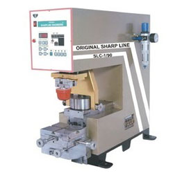 single color pad printing machine with close ink cup