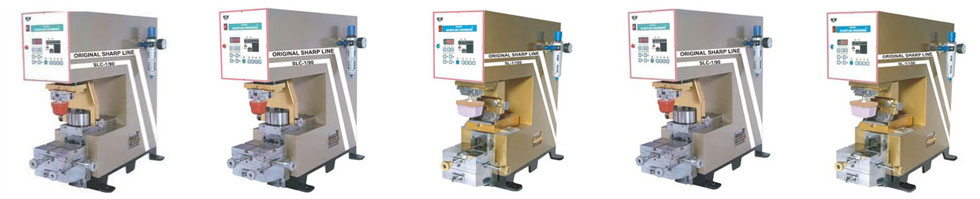 Single color pad printing machines and accessories